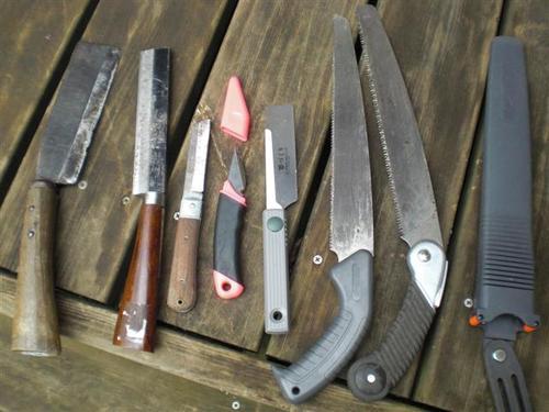 竹工作用工具