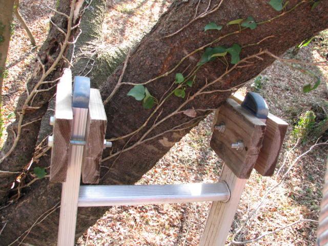 梯子の安全対策2外れ止め