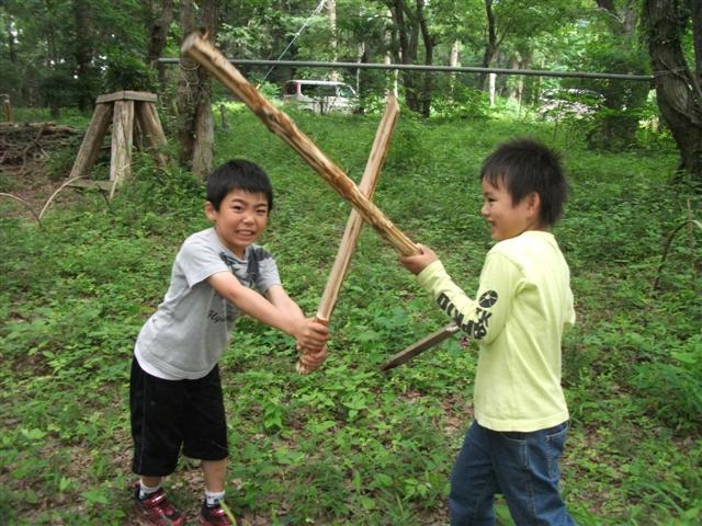 玩具/木刀vs棒
