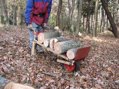 道具/原木運搬自作1輪車