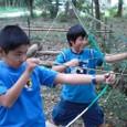 竹の弓遊び