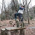 ロープウエーで竹ボウリング