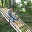 ローラー滑り台の竹取替