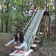 竹滑り台リニューアル