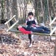 ゆらゆら竹ベンチ