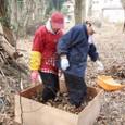 落ち葉堆肥枠-4