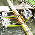 子ども水場に高速水車