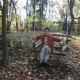 竹のゆらゆら椅子