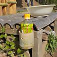 竹ベンチにドリンクホルダー