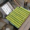 魚水槽に竹の蓋