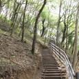 散策路に階段