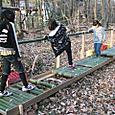 冒険林/竹筒渡り