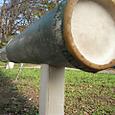 竹柵と支柱の組合せ