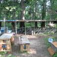 シート小屋と作業台
